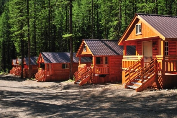 Family Cabins in a Row