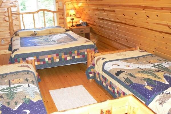 Beds in loft