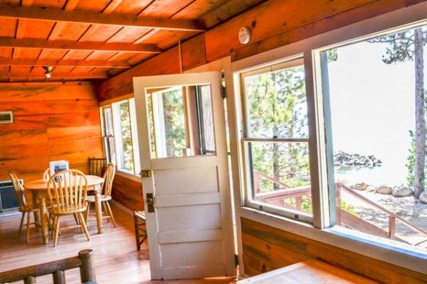 Cabin: 2nd Bedroom; Porch Cabin: Porch; Meeks Bay Resort