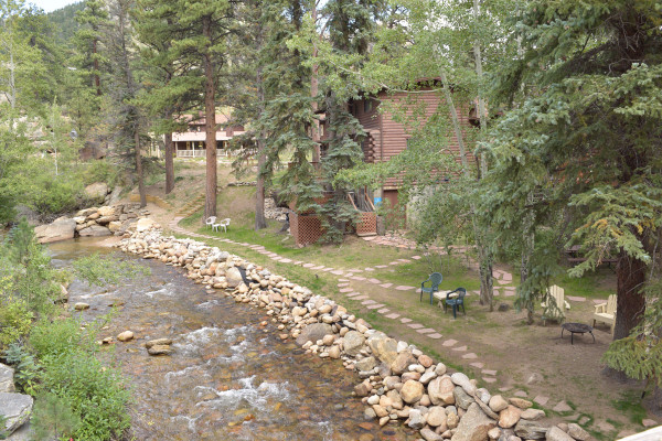 River Behind Cabin