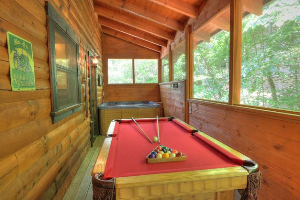 Pool Table and Hot Tub