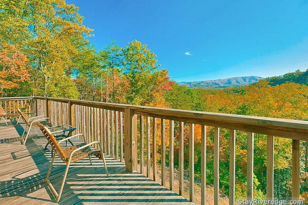 The Mountain Views from the Deck