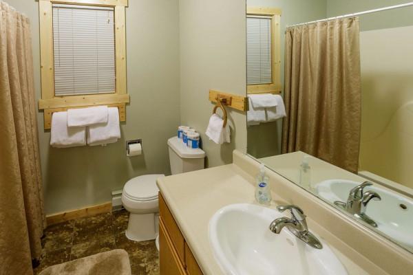 Upstairs bathroom from hallway