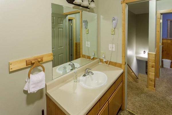 Upstairs full bathoom from tub
