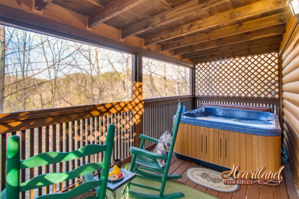 Back Deck & Hot Tub
