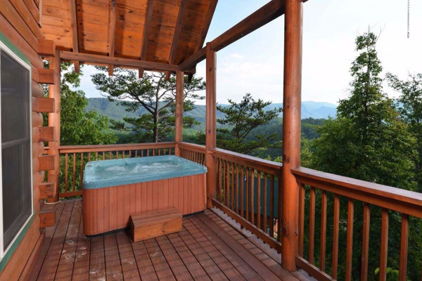Hot Tub, Porch & View
