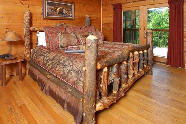 Cabin: Living Room; Bedroom