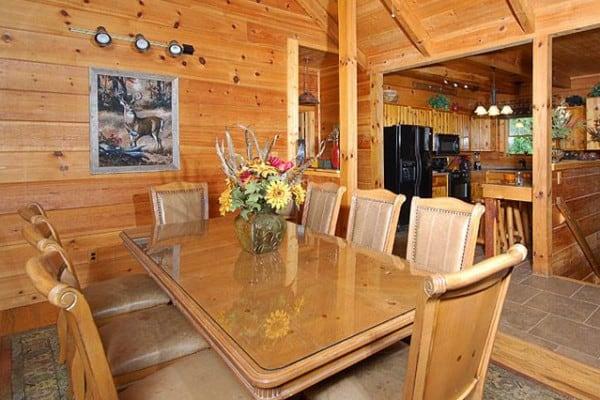 Cabin: Bedroom; Dining Room