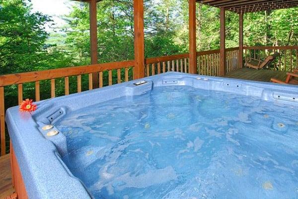 Cabin: Dining Room; Hot Tub