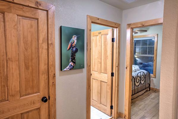 Hallway with Hummingbird