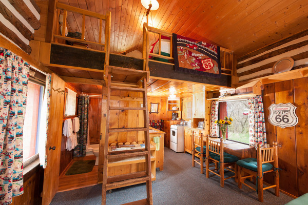 Entire Cabin with Bathroom, Kitchen, Dining Area, and Loft Upstairs
