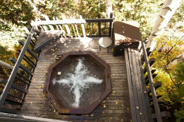 Overlooking Hot Tub