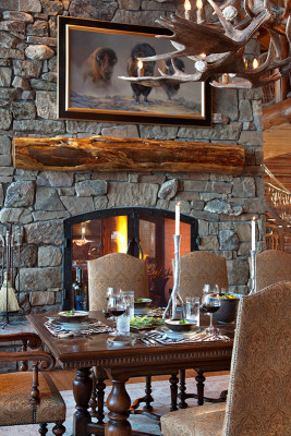 Fireplace - Dining Room
