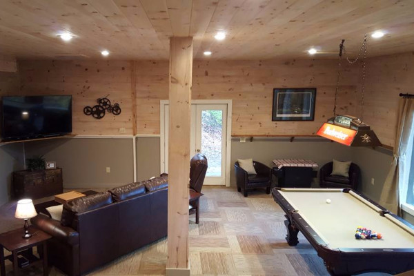 Downstairs Den & Game Area