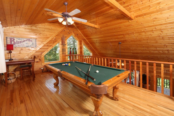 Loft w/Billiard Table