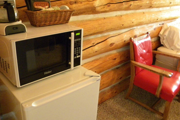 Cabin #6 Microwave and Fridge