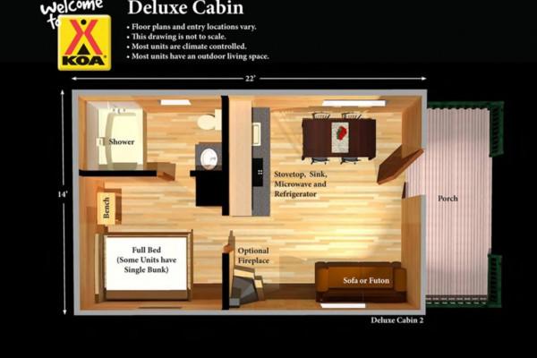 Cabin Floorplan - Deluze