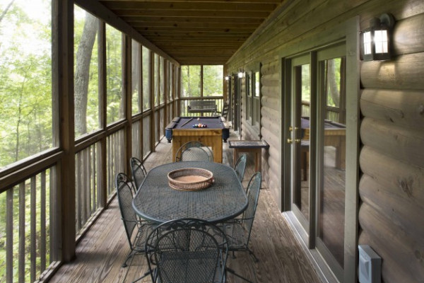 Screened-In Back Porch amenities