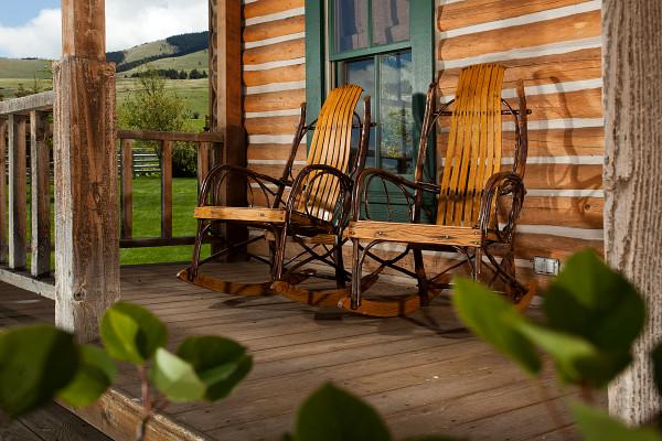 Romantic front porch