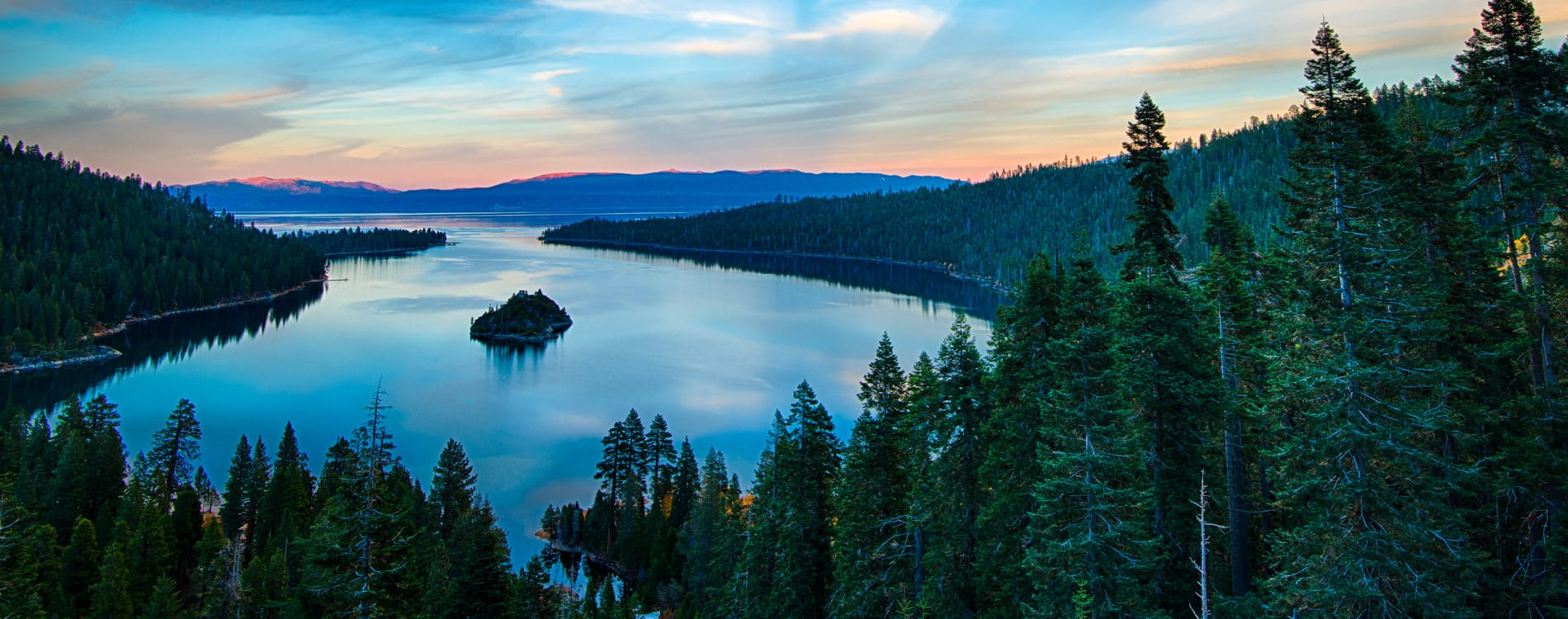 Sunrise at Emerald Bay in Lake Tahoe