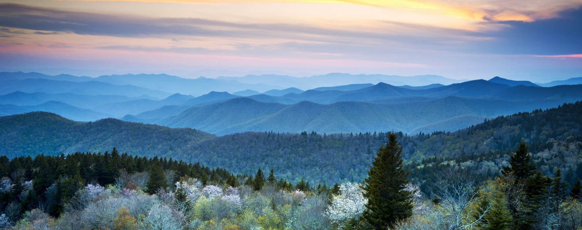 Asheville, NC - Scenic Blue Ridge Parkway in the Appalachians