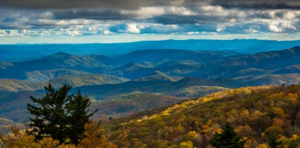 Boone, NC - Autumn View of Blue Ridge Parkway