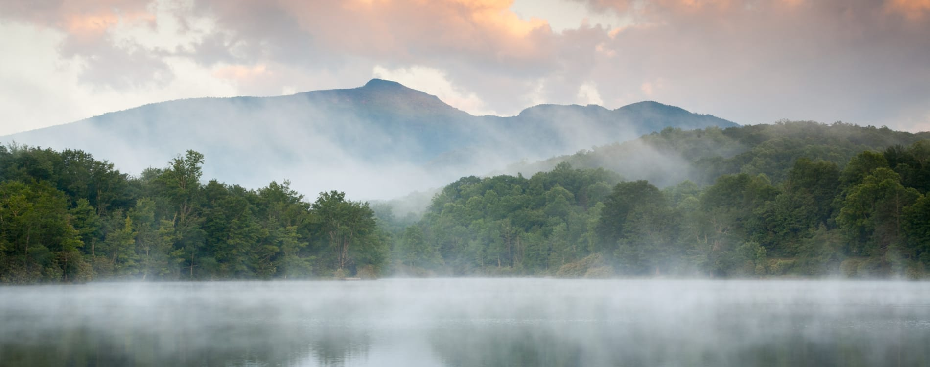 Boone, NC - Grandfather Mountain Sunrise from Julian Price Lake