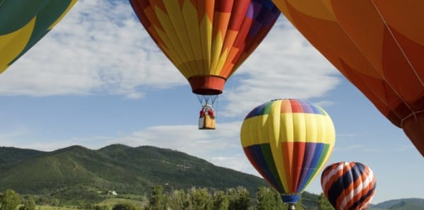 Steamboat Springs, CO - Balloons Over Steamboat Springs