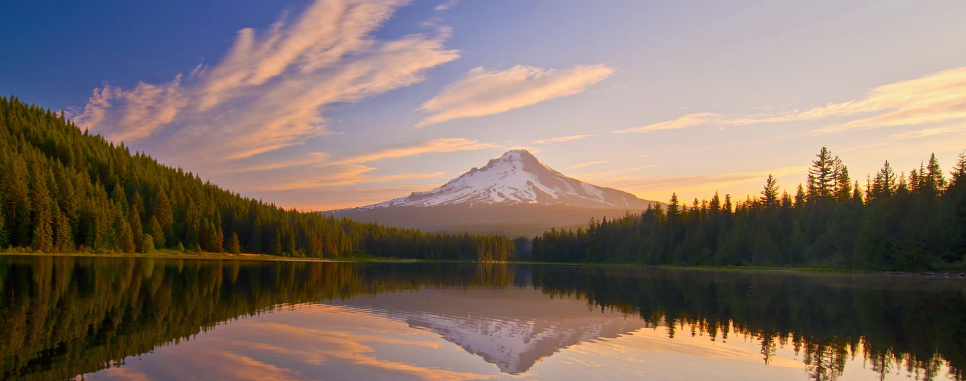 Mount Hood, OR - Sunset at Trillium Lake
