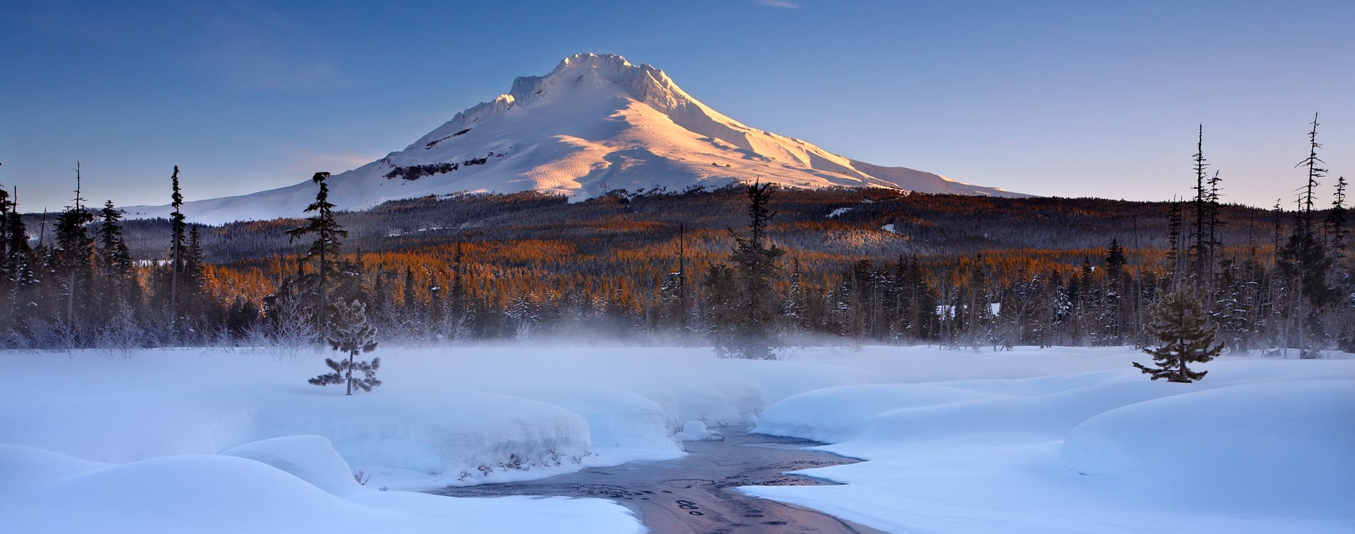 Mount Hood, OR - Winter View of Mount Hood
