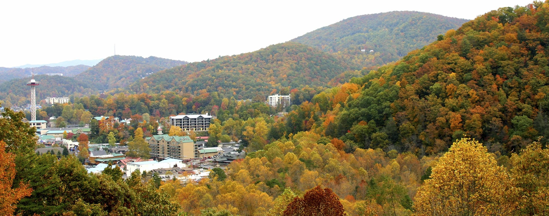 Fall in downtown Gatlinburg Tennessee