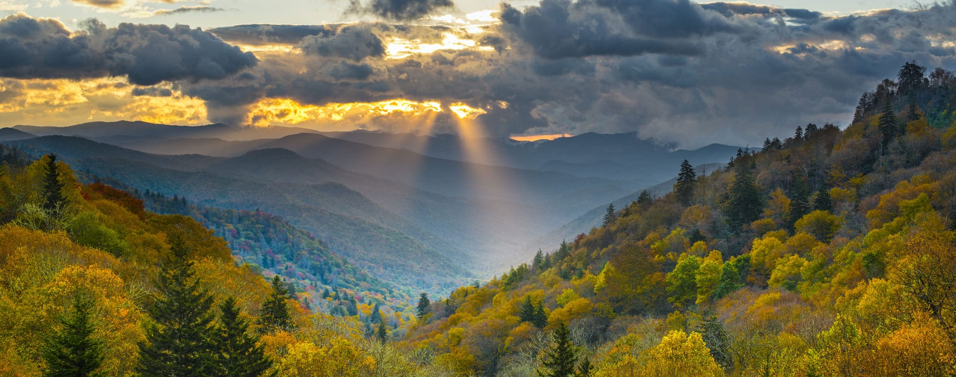 Sunrise in Great Smoky Mountain National Park Tennessee