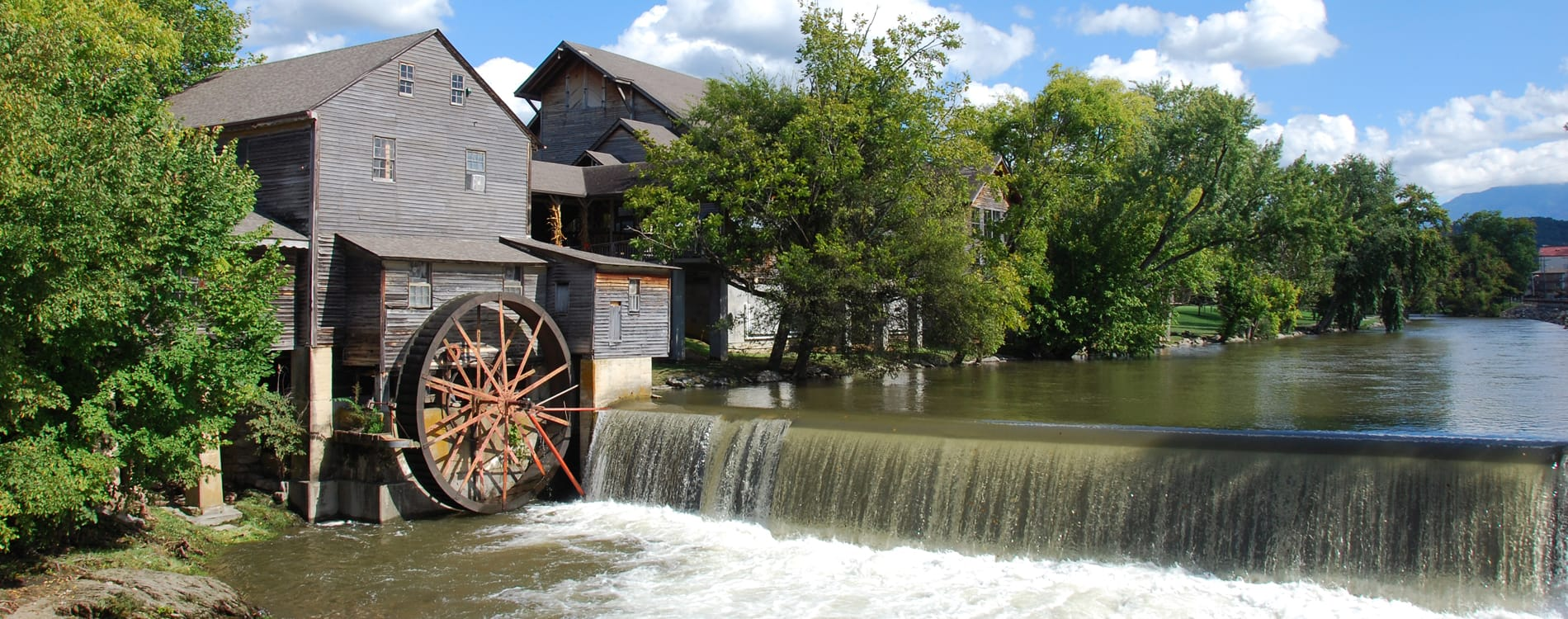 Pigeon Forge, TN - Old Mill and Waterfall