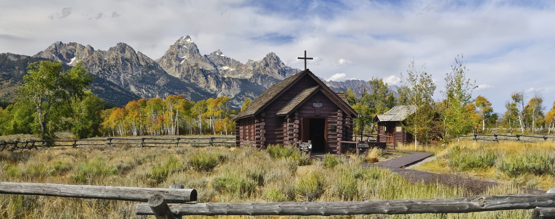 Chapel of the Transfiguration in Grand Teton National Park WY