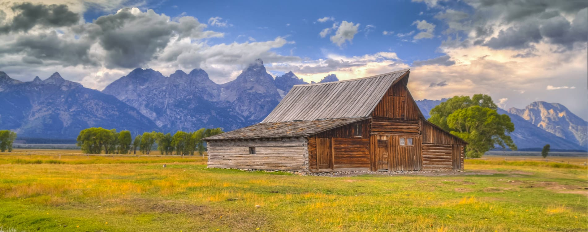 Mormon Row in Grand Teton National Park Wyoming