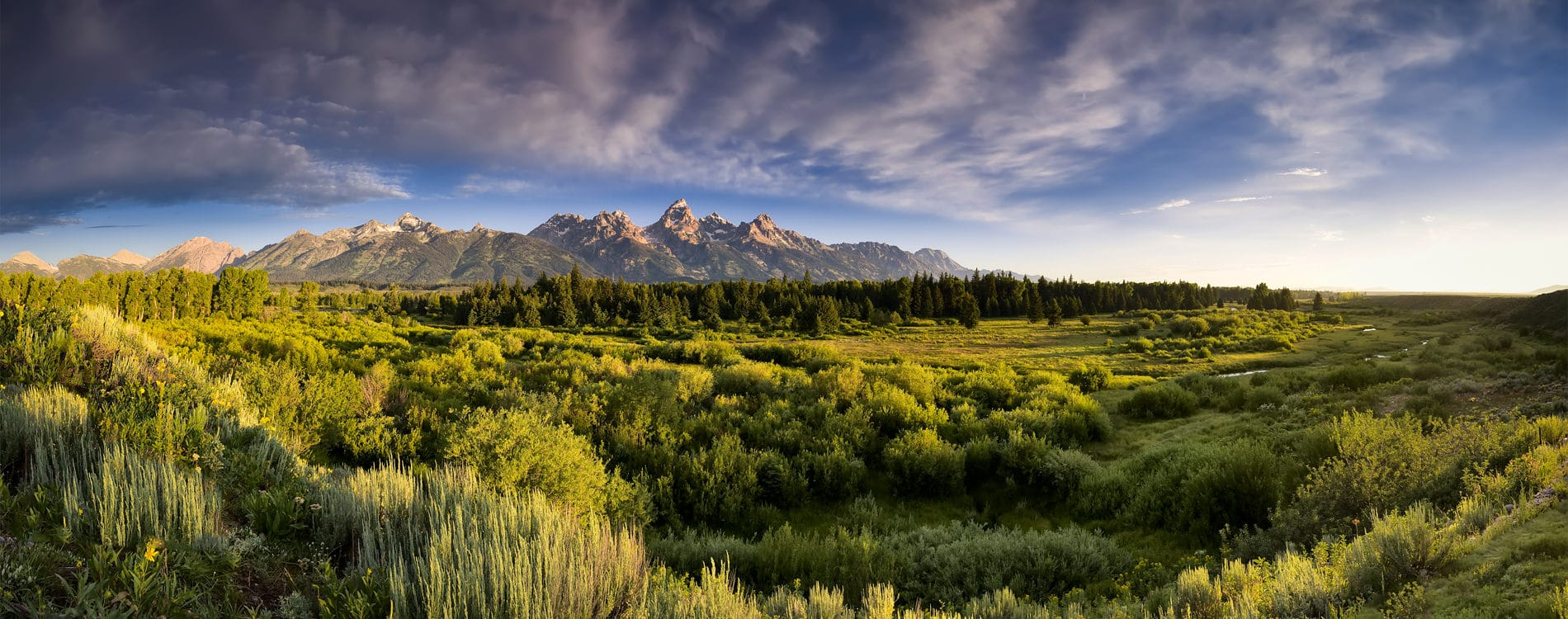 Sunrise at Blacktail Ponds in Grand Teton Park Jackson Wyoming