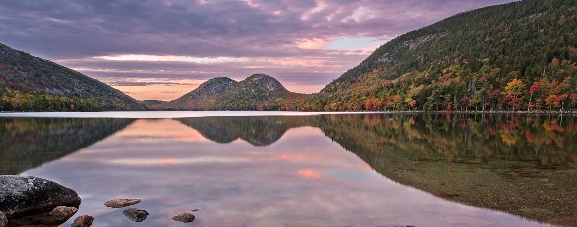 Acadia National Park - Sunset on Jordan Pond