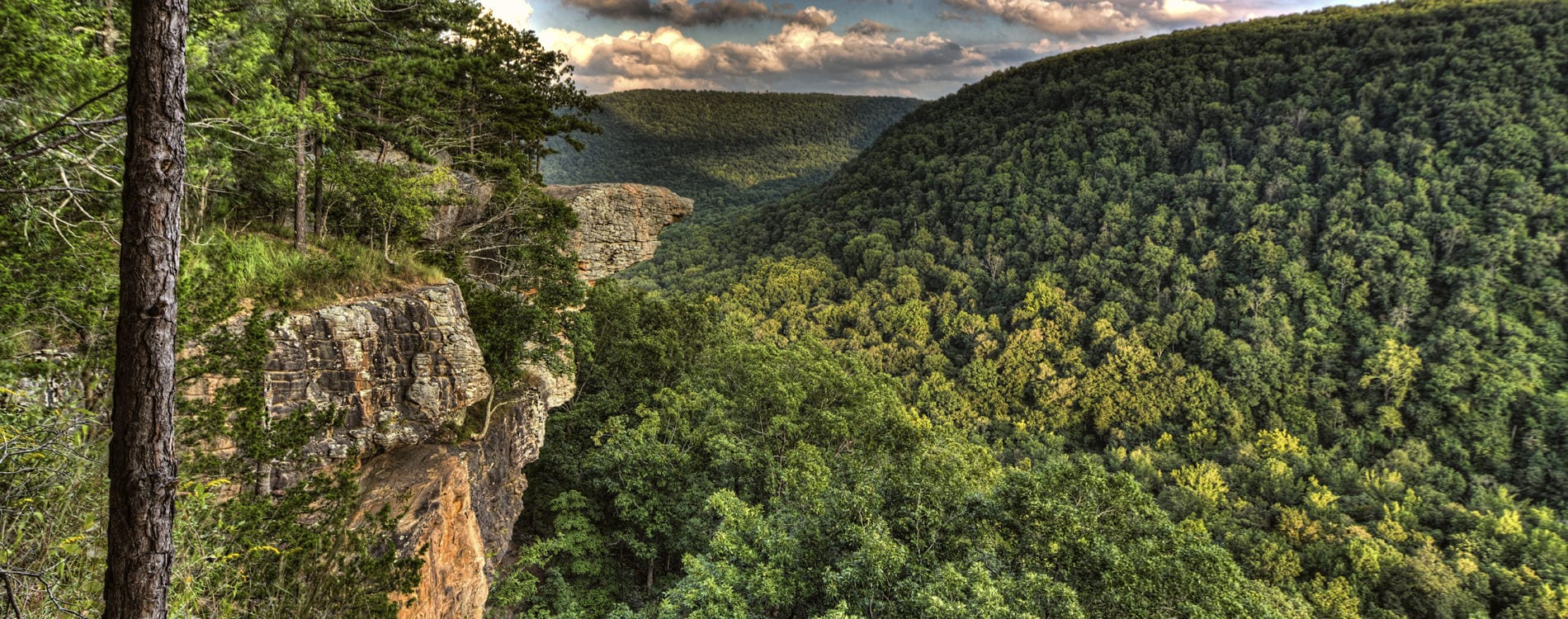 Whitaker Point in the Ozark Mountains Arkansas