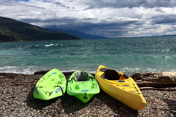 Kayaks on the shore