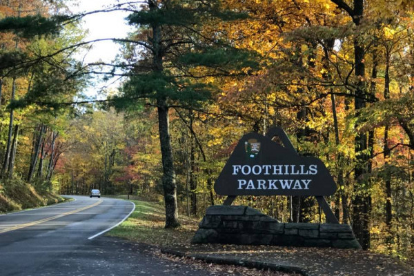 Entry to Foothills Parkway