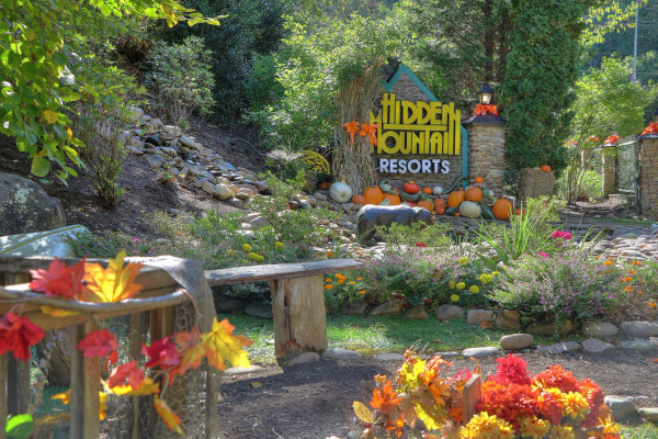 Our Welcome Sign in Fall
