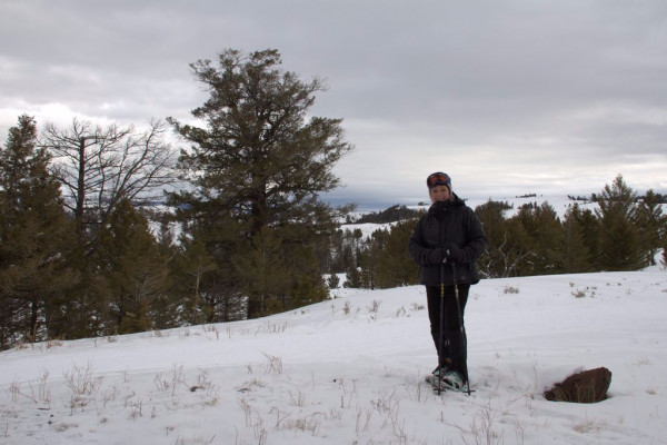 Snowshoe to Yellowstone from front door