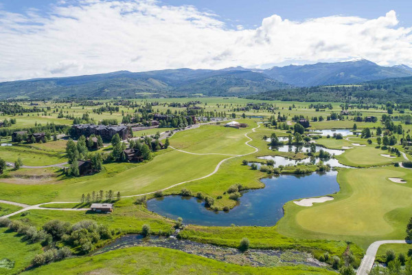 Aerial View - Teton Springs Golf Course