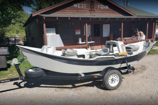 Drift Boat at Shop
