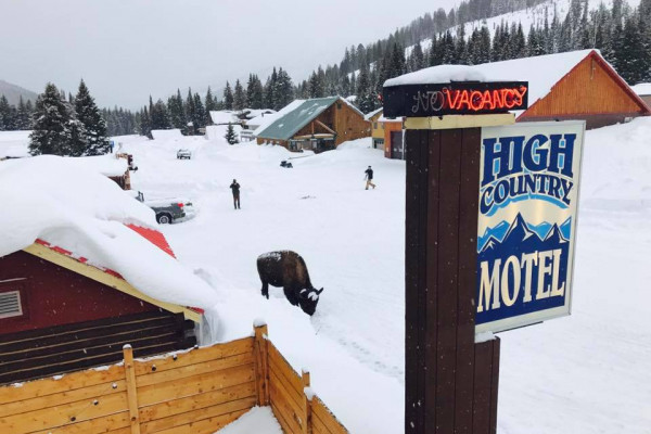 Winter at High Country Motel and Cabins