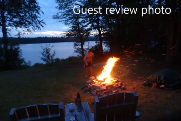 Guest enjoying firepit