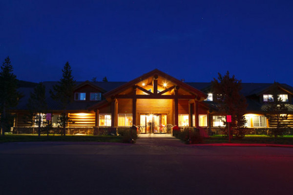 Headwaters Lodge at Night