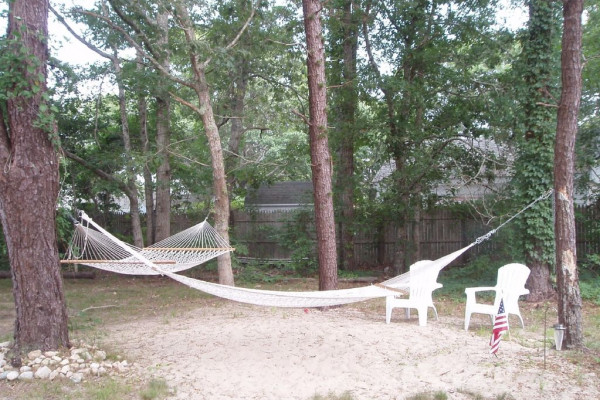 Hammocks on property