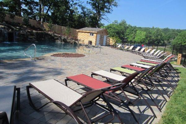 Resort Pool with Slide