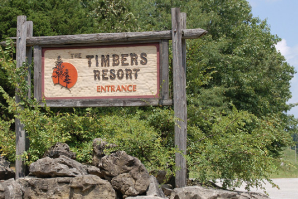 Entrance Sign for Timbers Lodge